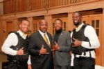Xi Eta Advisor Brother Burris with Brothers Pickett, Middleton, and Brown